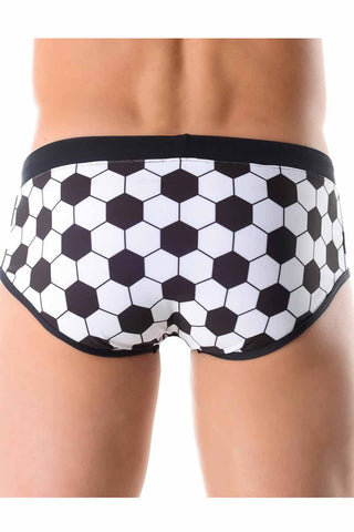Jor Black And White Soccer Swim Brief