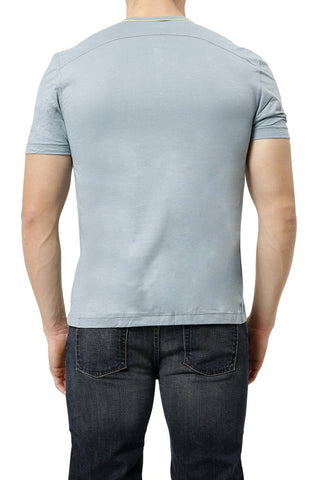 C-IN2 Buff Blue Pop Short Sleeve Henley