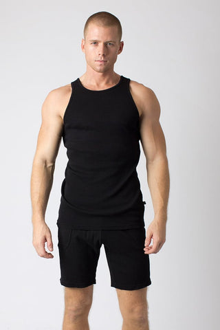 Timoteo Black Comfort Tank Top