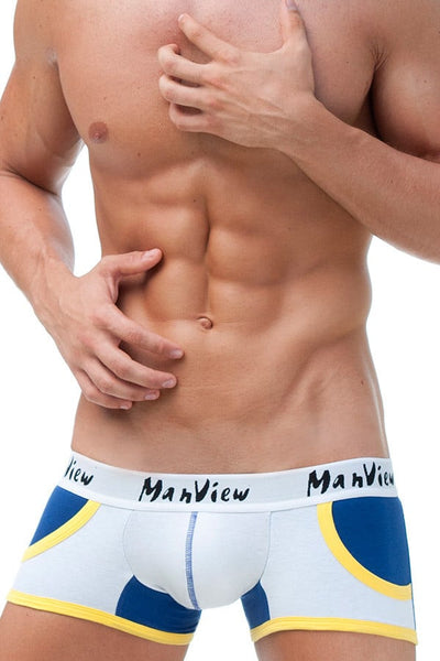 Manview White Sport Pocket Trunk