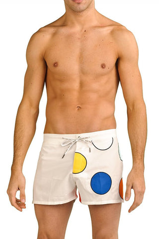 Baskit White Dots Swim Shorts