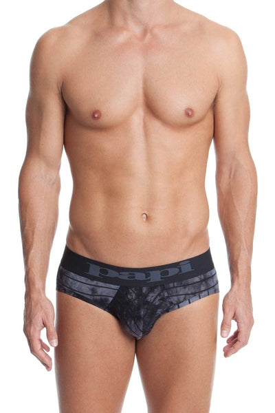Papi Black Stripe Tease Low Rise Brief