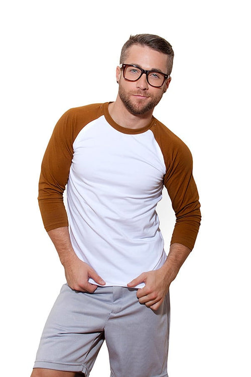 CheapUndies Saddle Brown Raglan Shirt - CheapUndies.com