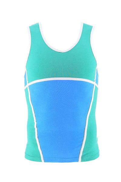 P.O.V. Green & Blue Duo Tank Top - CheapUndies.com
