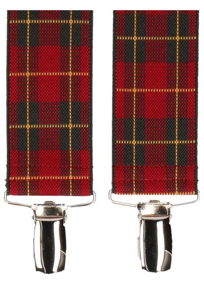 Mrs. Bow Tie Royal Stewart Tartan Suspenders - CheapUndies.com