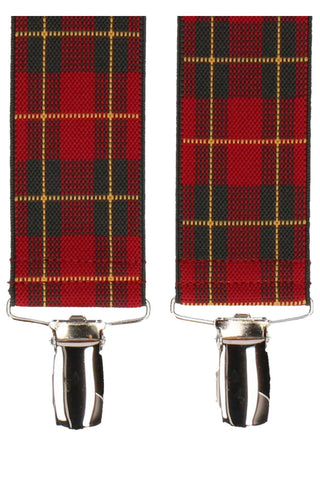 Mrs. Bow Tie Royal Stewart Tartan Suspenders