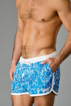 Frank Dandy Blue Paint Job Saint Paul Swim Short