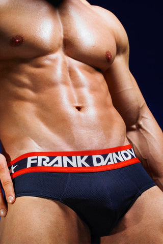 Frank Dandy Perforated Navy Hank Brief