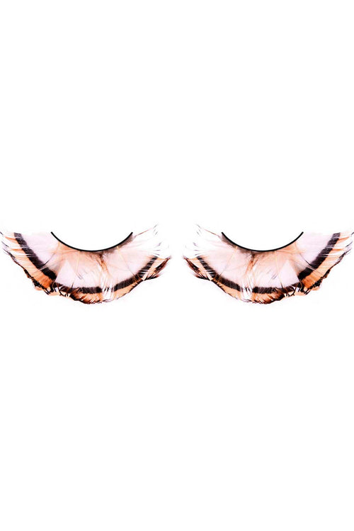 Baci Tan Paradise Dreams Feather Eyelashes - CheapUndies.com