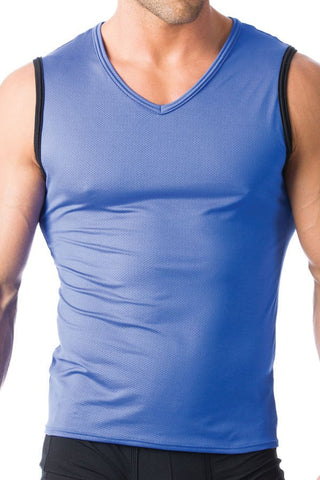 Gregg Homme Blue Charged Muscle Shirt
