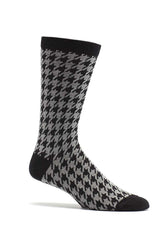Ozone Black Houndstooth Calf Sock