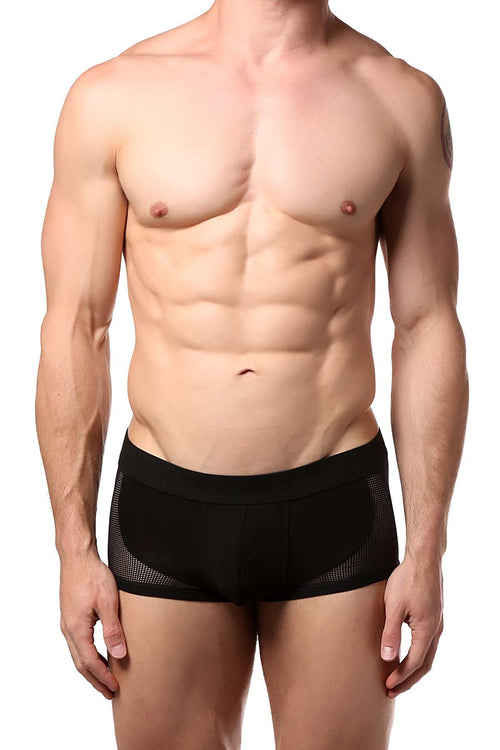 Doreanse Black Mesh-Panel Pouch Trunk - CheapUndies.com