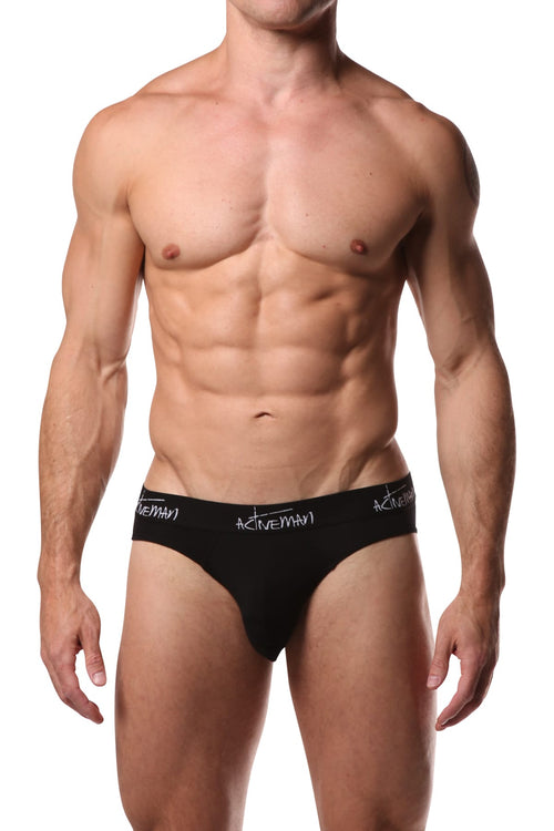 Activeman Black Cotton Brief - CheapUndies.com