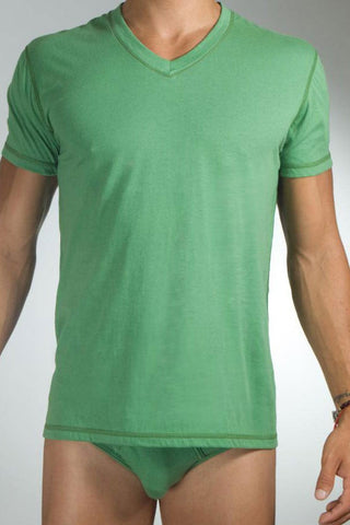Baskit Light* Ivy Green V-Neck T-Shirt