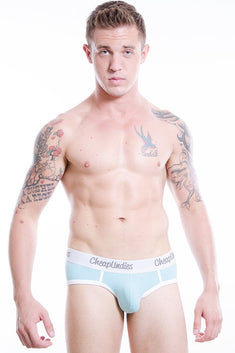 CheapUndies Sky Blue Cotton Brief