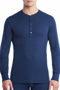 2(X)IST Varsity Navy Sport Tech Long-Sleeve Henley