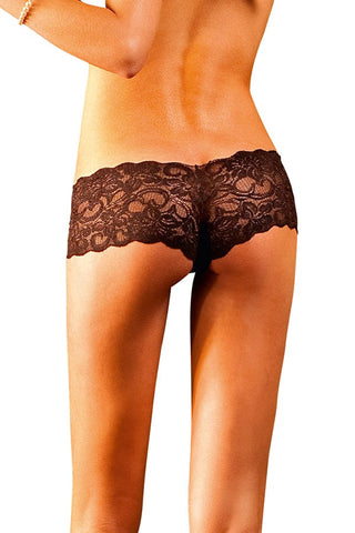 Baci Dark Brown Lace Boyshorts