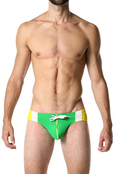 CheapUndies Green Varsity Swim Brief