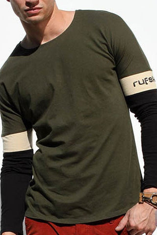 Rufskin Olive Mauro Long Sleeve Shirt