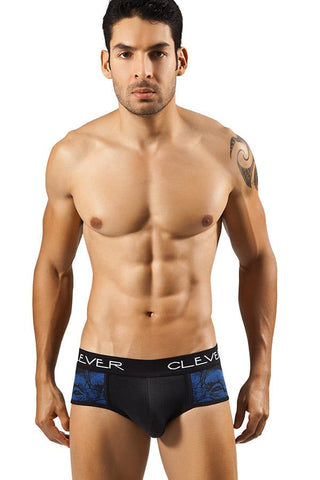 Clever Black Pop Art Monkey Brief