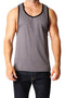 Timoteo Charcoal Grey & Black Freedom Tank