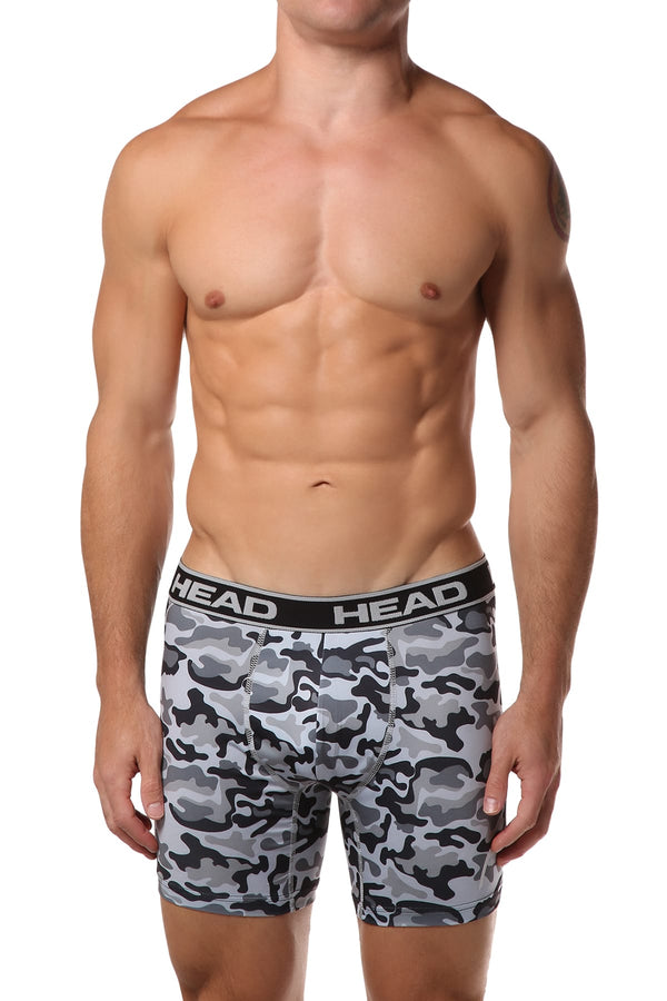 Head Grey Camoflauge Boxer Brief - CheapUndies.com