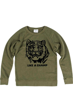 Rxmance Unisex Army Green Like A Champ Sweatshirt