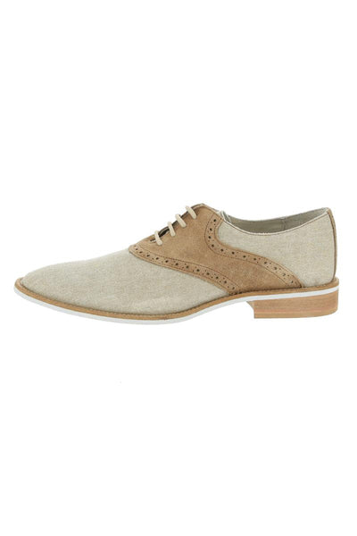 Giorgio Brutini Camel Suede & Natural Canvas Oxford