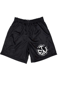 Rxmance Unisex Black Circle Ten Mesh Short