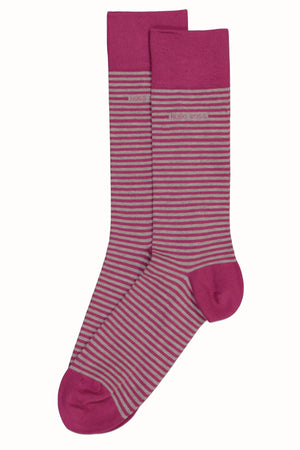 Hugo Boss Purple & Grey Stripe Sock