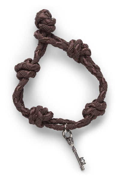 Rave Key Brown knotted Bracelet - CheapUndies.com