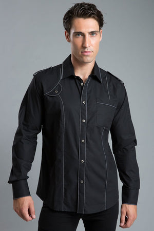 Young Republic Black Spencer Button-Up