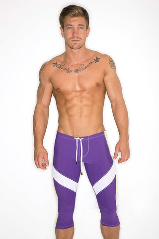 CheapUndies Purple & Yellow Performance Capris