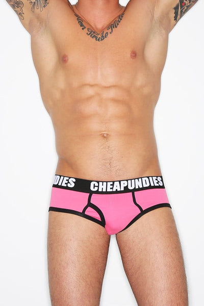 CheapUndies Pink Impact Fly Brief