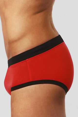 BWET Red Sant Pol Swim Brief