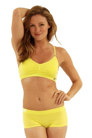 New Balance Primrose Yellow Seamless T-Shirt Bra