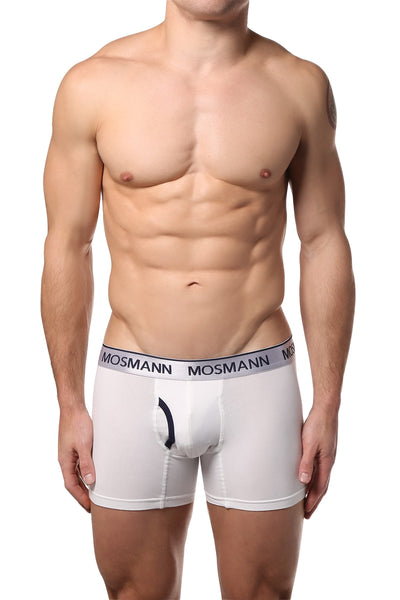 Mosmann White Long Boxer - CheapUndies.com