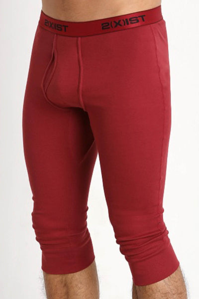 2(X)IST Cranberry Essential Cotton Cropped Long John - CheapUndies.com