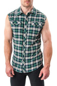 Nasty Pig Green Logger Sleeveless Flannel Shirt