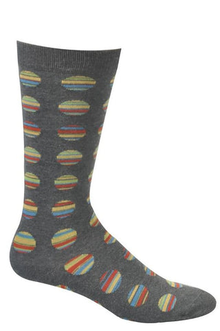 Ozone Grey Cookie Cutter Stripes Calf Sock
