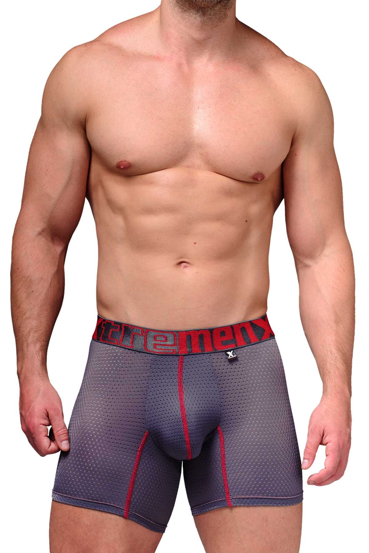 Xtremen Grey Microfiber Mesh Boxer Brief