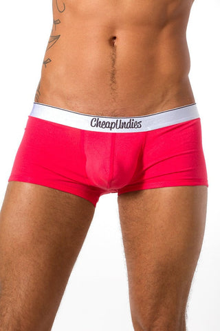 CheapUndies Coral Jock Trunk