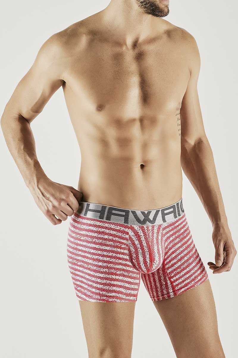 Hawai Coral Pixil Stripes Boxer Brief