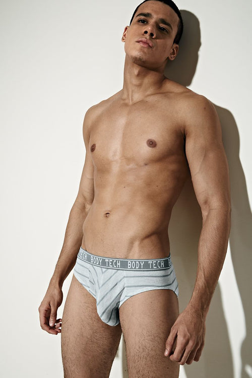 Body Tech Grey Fog Brief - CheapUndies.com