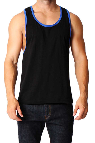 Timoteo Black & Royal Blue Freedom Tank - CheapUndies.com