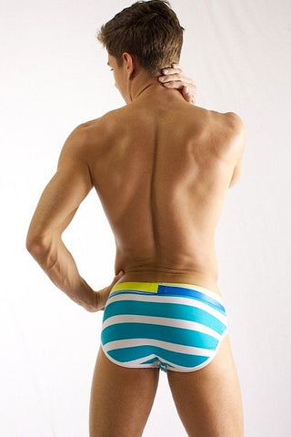 2(X)IST Aqua Striped Brief