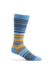 Ozone Blue UPC Stripe Crew Sock