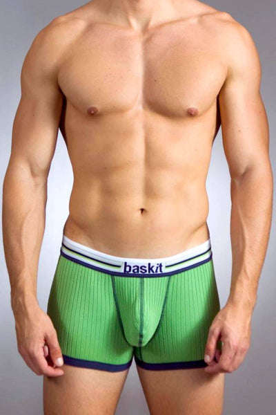 Baskit Lime-Green Ribbed Low-Rise Trunk - CheapUndies.com