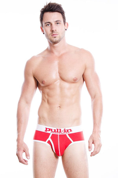 Pull-In Red ZLIP CORPORED Brief
