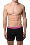 2(X)IST Black Contrast Performance Cotton Boxer Brief 2-Pack